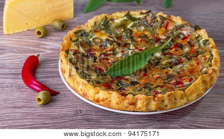 Cheese Pie And Olives