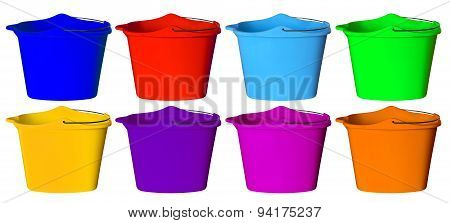 Plastic Bucket - Colorful