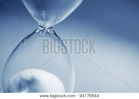 Hourglass Clock On Light Blue Background