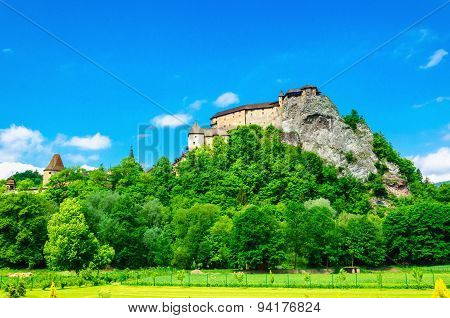 Medieval Orava Castle in Slovakia