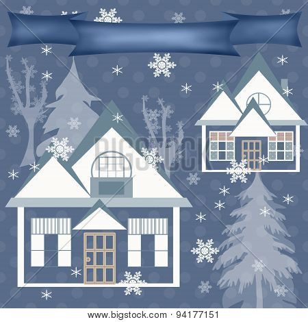 Background Retro Christmas Design Nature Winter Illustration