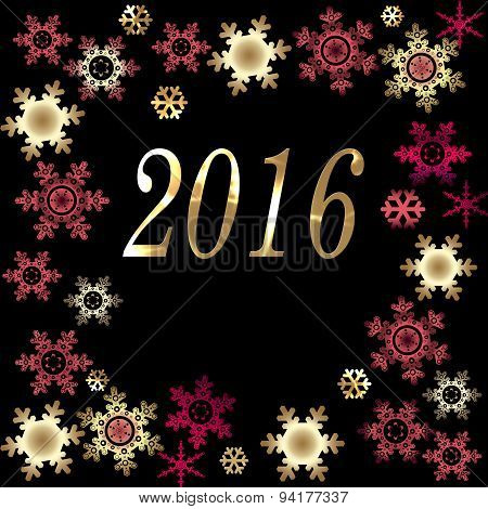 Happy New Year Greeting Card Background