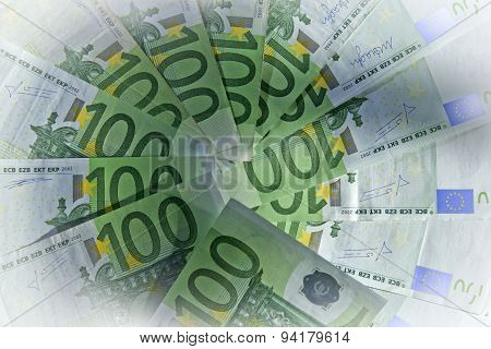 Lots of money cash 100 Euro