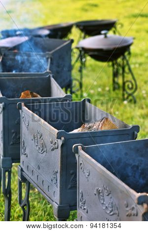 barbecue in the garden