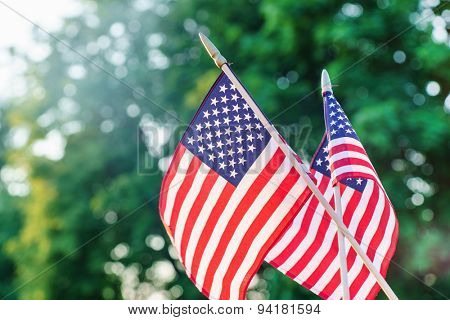 american flags
