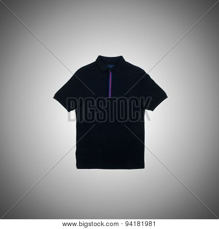Male t-shirt against the gradient background