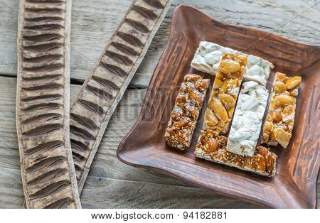 Turron Slices On The Plate