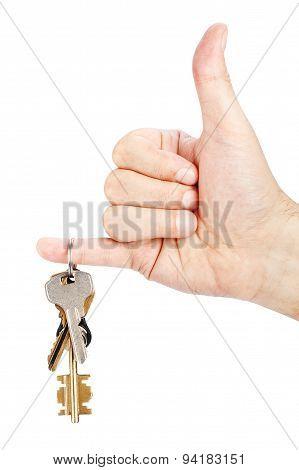 Bunch of keys in hand