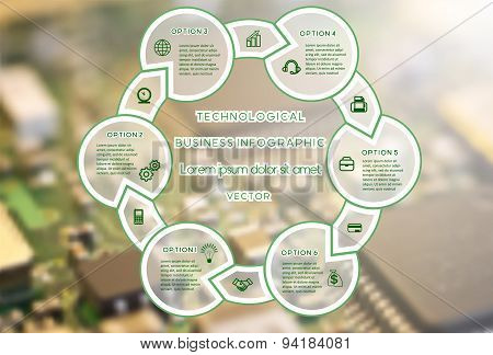 Technological Business Infographic