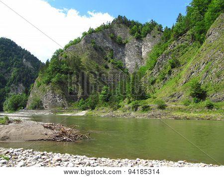 rocky hills at Dunajec river