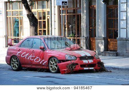 Lukoil Car After Flood
