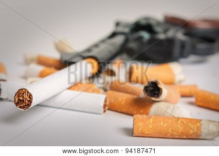 Smoking Kills. Anti-smoking Background