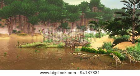 Cretaceous Dinosaur River