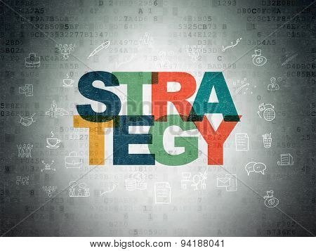 Business concept: Strategy on Digital Paper background