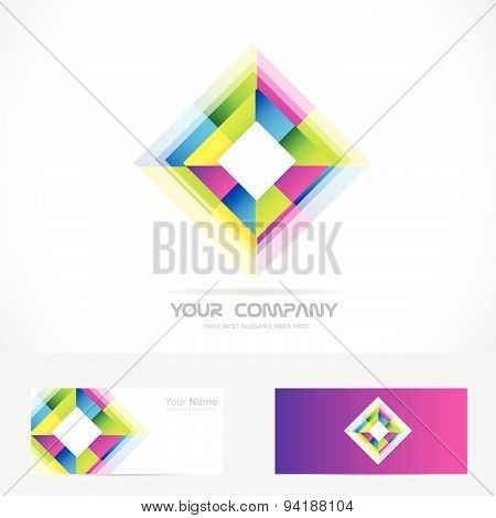 Colors corporate rhombus logo