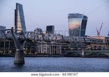 View Of Millennium Bridge In London