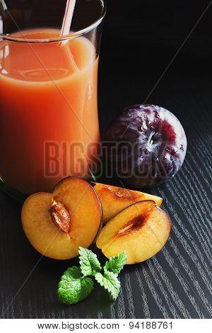 Plum Juice In A Glass