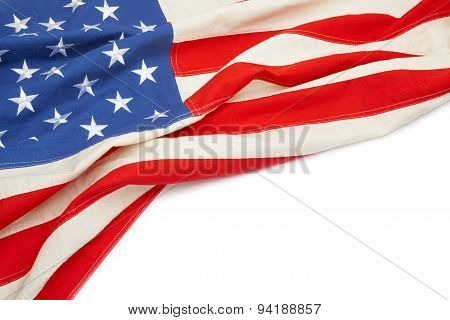 Usa Flag With Place For Your Text - Close Up Studio Shot