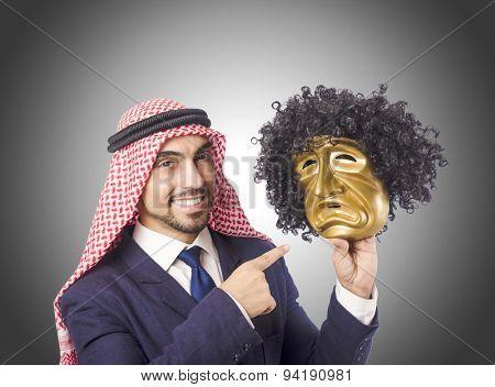 Arab man hypocrisy concept