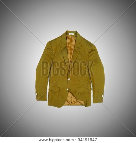 Jacket against the gradient background
