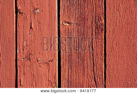 Vintage Red Barn Board Background