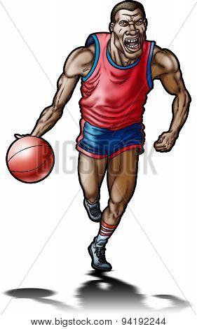 Extreme basketball player