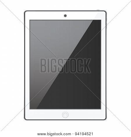 New Realistic Tablet Modern Style Isolated On White Background