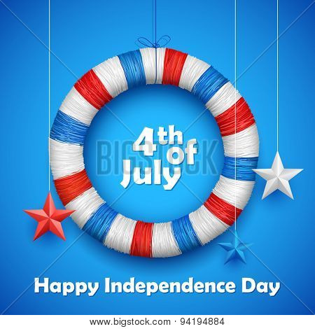 illustration of Fourth of July background for Happy Independence Day of America