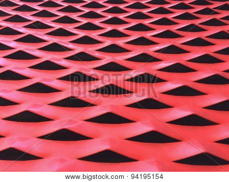 Metallic Background In Red