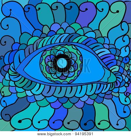 Vector illustration, abstract eyes artwork