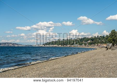 Alki Beach In West Seattle