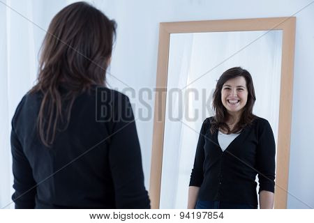 Girl Wearing A Fake Smile