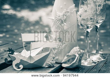 Wedding Decoration In Marine Style.
