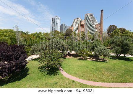 Turia Park In Valencia, Spain
