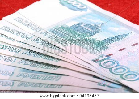 Background Image Of Different Russian Bank Notes