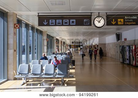 Interior Of Airport Of Girona, Spain