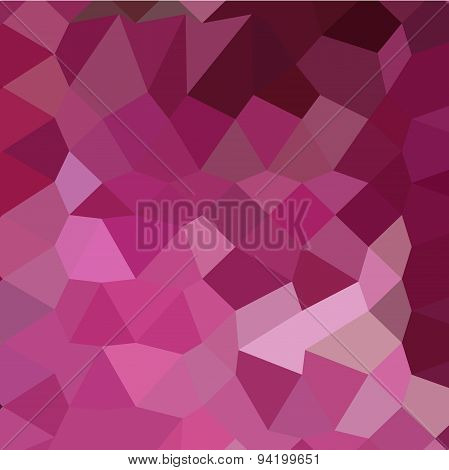 French Rose Pink Abstract Low Polygon Background