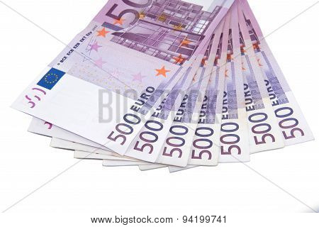 Five hundred Euro bank notes