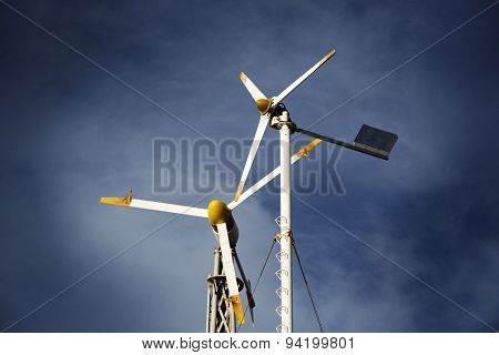 Two Small Wind Turbines
