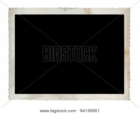 vintage photograph isolated on white background, vector