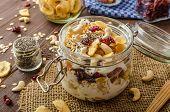 pic of dry fruit  - Homemade yogurt with granola dried fruit and nuts bio  - JPG