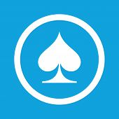 picture of spade  - Image of spades card symbol in circle - JPG