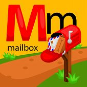 foto of letter m  - the letter m for the word mailbox - JPG
