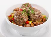 picture of meatball  - meatballs in a white bowl - JPG