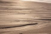 pic of tide  - Natural sand patterns in beach at low tide - JPG