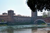 foto of juliet  - Verona, an ancient castle on the river - Italy