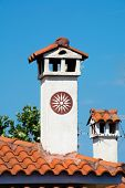 picture of chimney  - Chimneys on typical Greek roofs - JPG