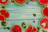pic of watermelon slices  - Watermelon  - JPG