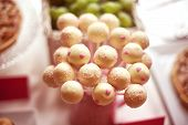 picture of cake pop  - Capture of White cake pops on table - JPG