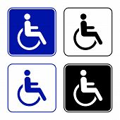 image of disability  - disabled handicap icon - JPG